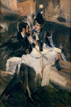 The Sweethearts' Lunch, C.1895 by Giovanni Boldini