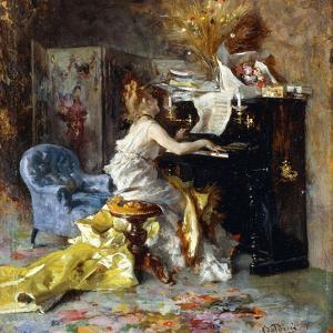 Woman at a Piano by Giovanni Boldini
