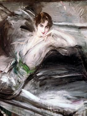 Woman Sat on Chair, C1860 by Giovanni Boldini
