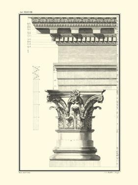 Crackled B&W Column and Cornice I by Giovanni Borra
