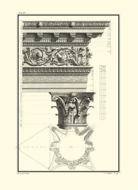 Crackled B&W Column and Cornice II by Giovanni Borra
