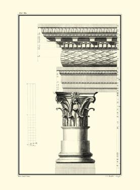 Crackled B&W Column and Cornice III by Giovanni Borra