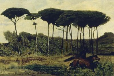 Horses on a Mound, 1867