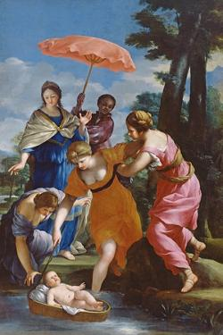 Moses Rescued from the Water, C.1655-57 by Giovanni Francesco Romanelli