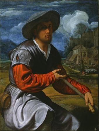Shepherd with a Flute, c.1525 by Giovanni Girolamo Savoldo