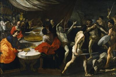 Gladiator Fights at a Banquet