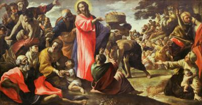 The Multiplication of the Loaves and Fishes, 1620-5 by Giovanni Lanfranco