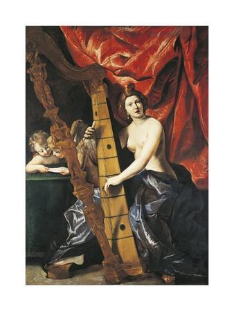 Venus Playing Harp, Allegory of Music
