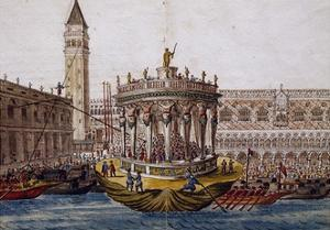 World Theatre, Tournament in Venice by Brotherhood of Knights of Garter, 1564, Italy by Giovanni Lanfranco