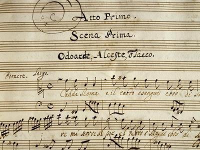 Autograph Music Score of Totila, 1677