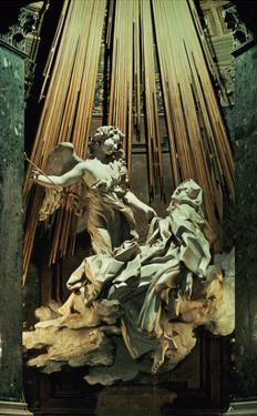 Ecstasy of St.Theresa (Marble) by Giovanni Lorenzo Bernini