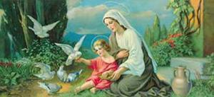 Madonna with Doves by Giovanni