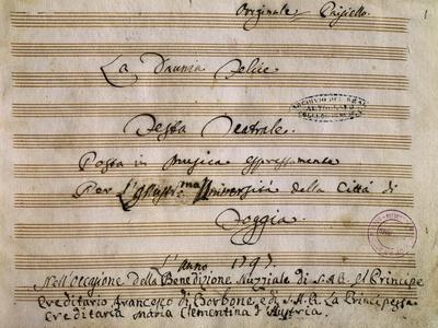Autograph Frontispiece of La Daunia Felice