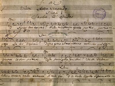 Autograph Music Score of Dido