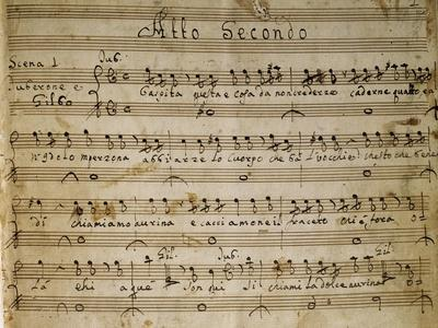 Autograph Music Score of the Second Act of the Opera the Chinese Idol, 1767