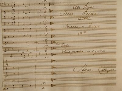 Music Score of Nina, or Girl Driven Mad by Love, 1789