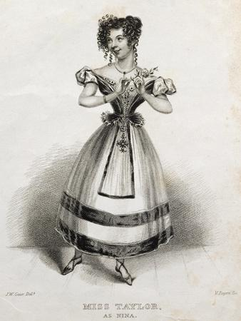 Portrait of Miss Taylor, Operatic Singer, as Nina, in Opera Nina, or Girl Driven Mad by Love, 1789