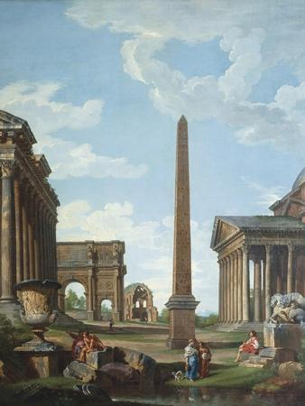 A Capriccio with Roman Ruins and a Scene from the Life of Belisarius