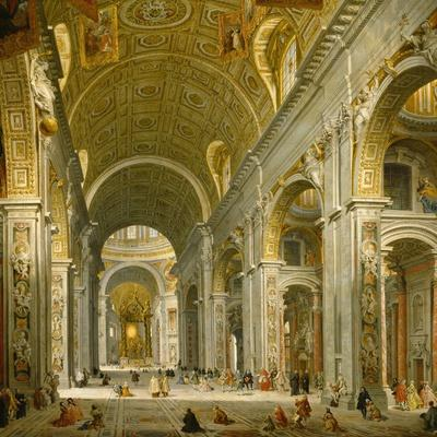 Interior of St. Peter's, Rome, 1750