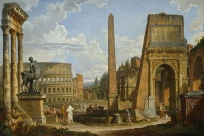 A Capriccio View of Roman Ruins, 1737 by Giovanni Paolo Pannini