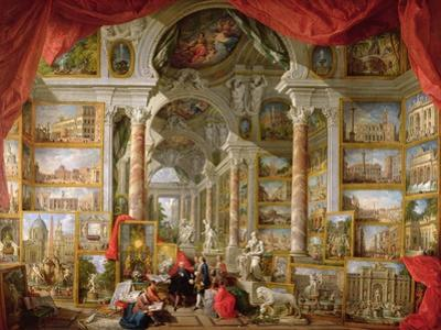 Gallery with Views of Modern Rome, 1759 by Giovanni Paolo Pannini