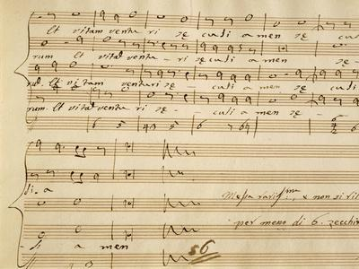 Handwritten Music Score of Mass for Four Voices, Kyrie Eleison