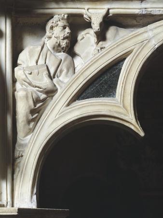 Crest of Arc Depicting Evangelist Luke, Detail from Pergamon or Pulpit
