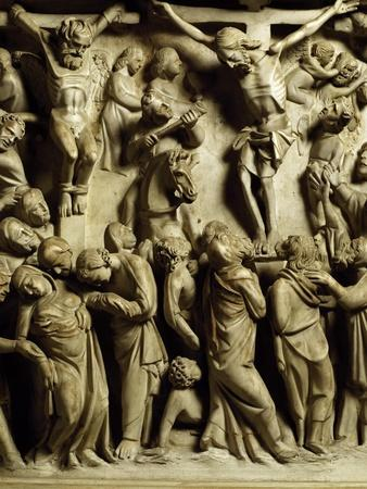 Crucifixion of Jesus, Scene from the Life of Christ, Panel on the Pulpit in the Cathedral of Pisa