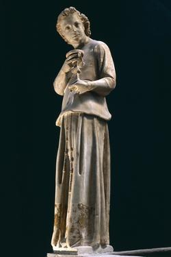 Figure of Angel, Statue to Left of Group of Madonna and Child with Two Angels, Ca 1312 by Giovanni Pisano