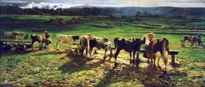 At the Pole, Ca 1886 by Giovanni Segantini