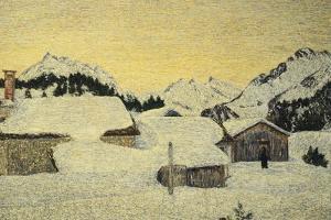 Chalets in Snow by Giovanni Segantini