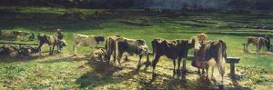 Grazing, 1886 by Giovanni Segantini