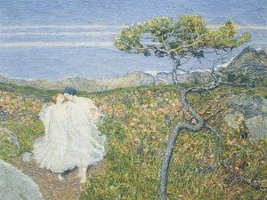 Love at the Fountain of Life or Lovers at the Sources of Life, Detail, 1896 by Giovanni Segantini