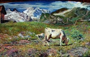 Meadows in Spring by Giovanni Segantini