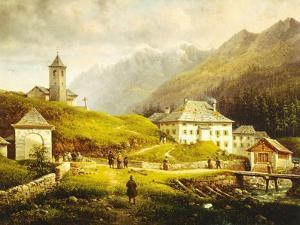Mountain Scenery by Giovanni Segantini
