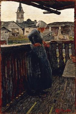 On Balcony, 1892 by Giovanni Segantini