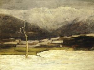 Savognino Landscape, 1886 by Giovanni Segantini