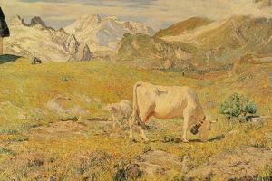 Spring Pasture by Giovanni Segantini