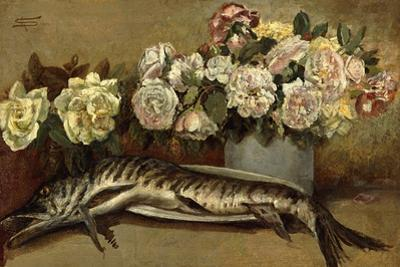 Still Life with Flowers and Fish or Pike and Roses, 1882