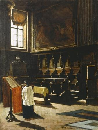 The Choir of the Church of St Anthony in Milan, 1879