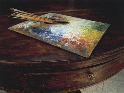 The Painter's Palette Used in His Workshop at the Maloja Pass, Switzerland
