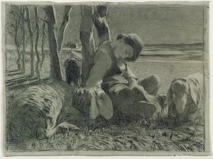 The Shepherd Asleep, 1888 by Giovanni Segantini