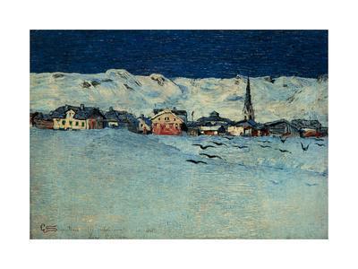 Winter View of Savognino by Giovanni Segantini, 1890. Milan, Italy