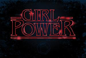 Girl Power (Horizontal Neon Glow)