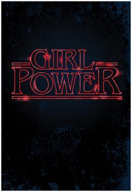 Girl Power (Vertical Neon Glow)