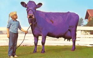 Girl with Purple Cow