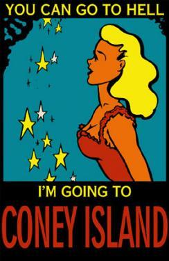 Girl with Stars Go To Coney Island