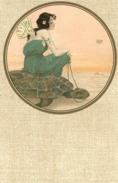 Girl with Tortoise, Art Nouveau