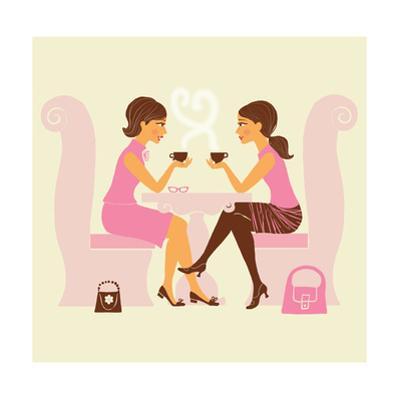 Girlfriends Talk over Coffee