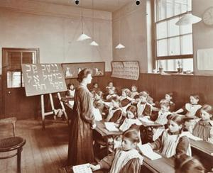 Girls Hebrew Reading Lesson, Jews Free School, Stepney, London, 1908